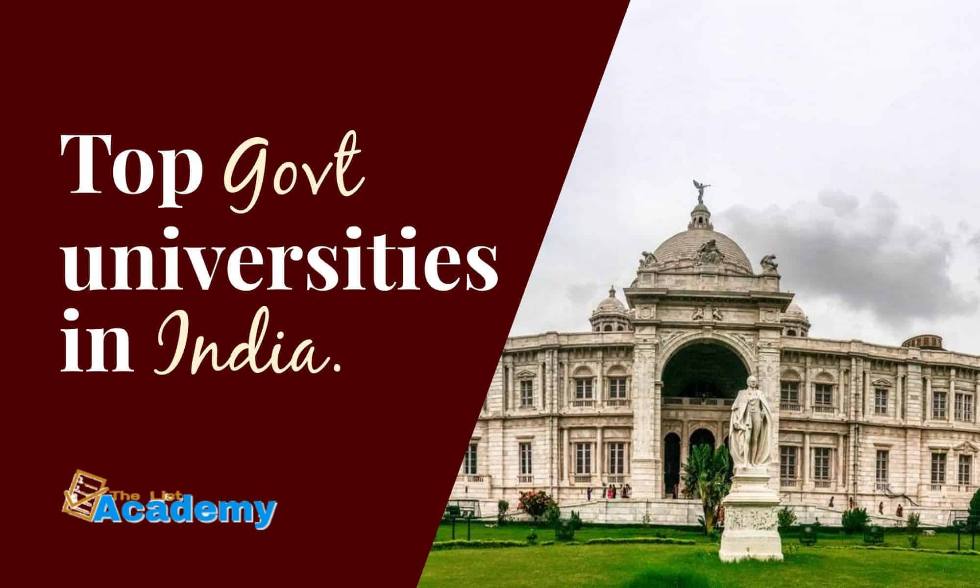 Cover Image For List : 29 Top Government Universities In India