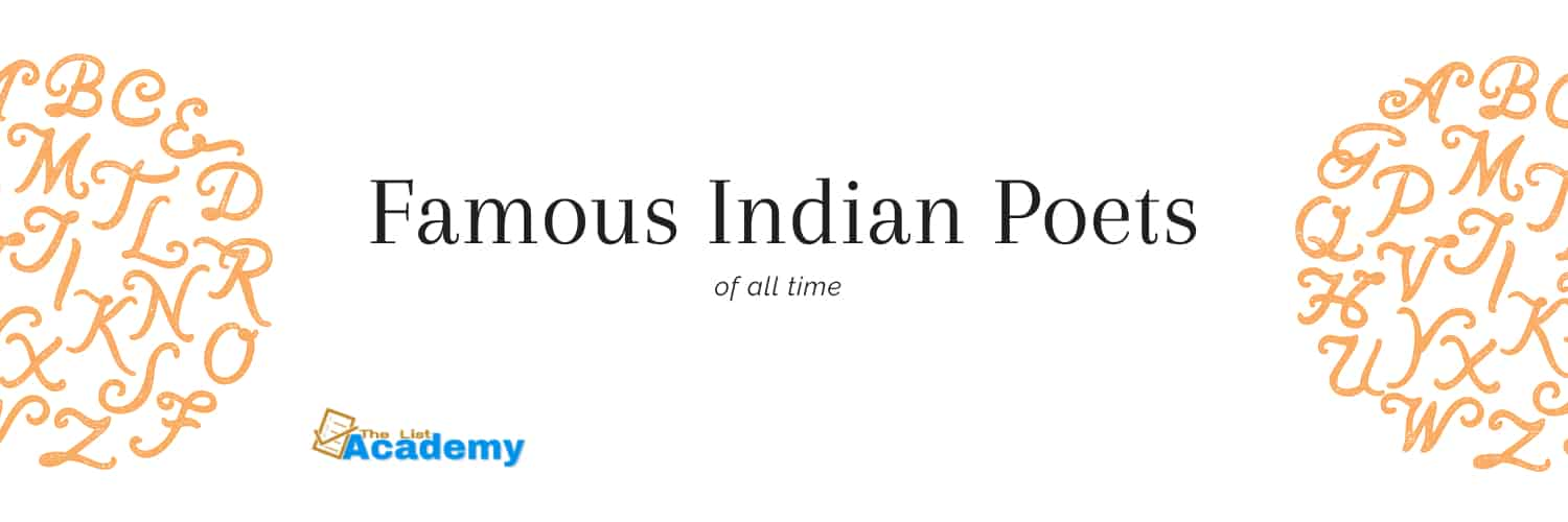 Cover Image For List : 64 Greatest And Famous Poets Of India