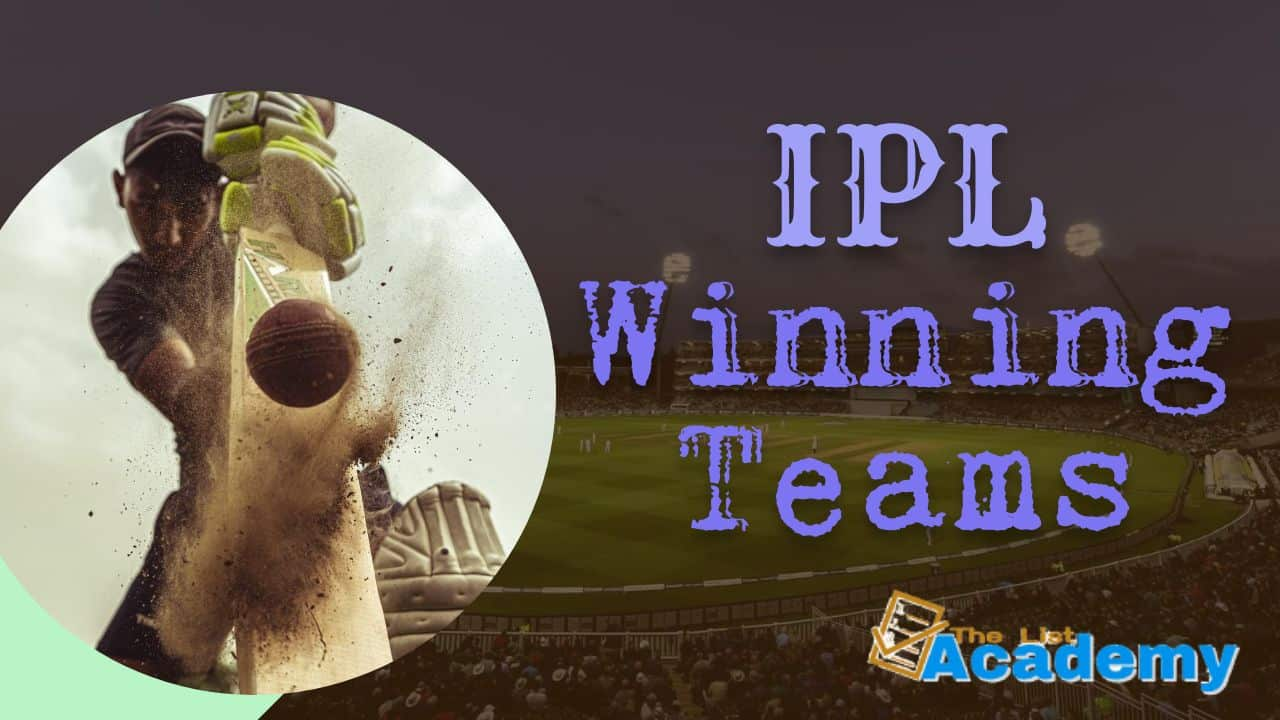 Cover Image For List : Ipl Winning Teams