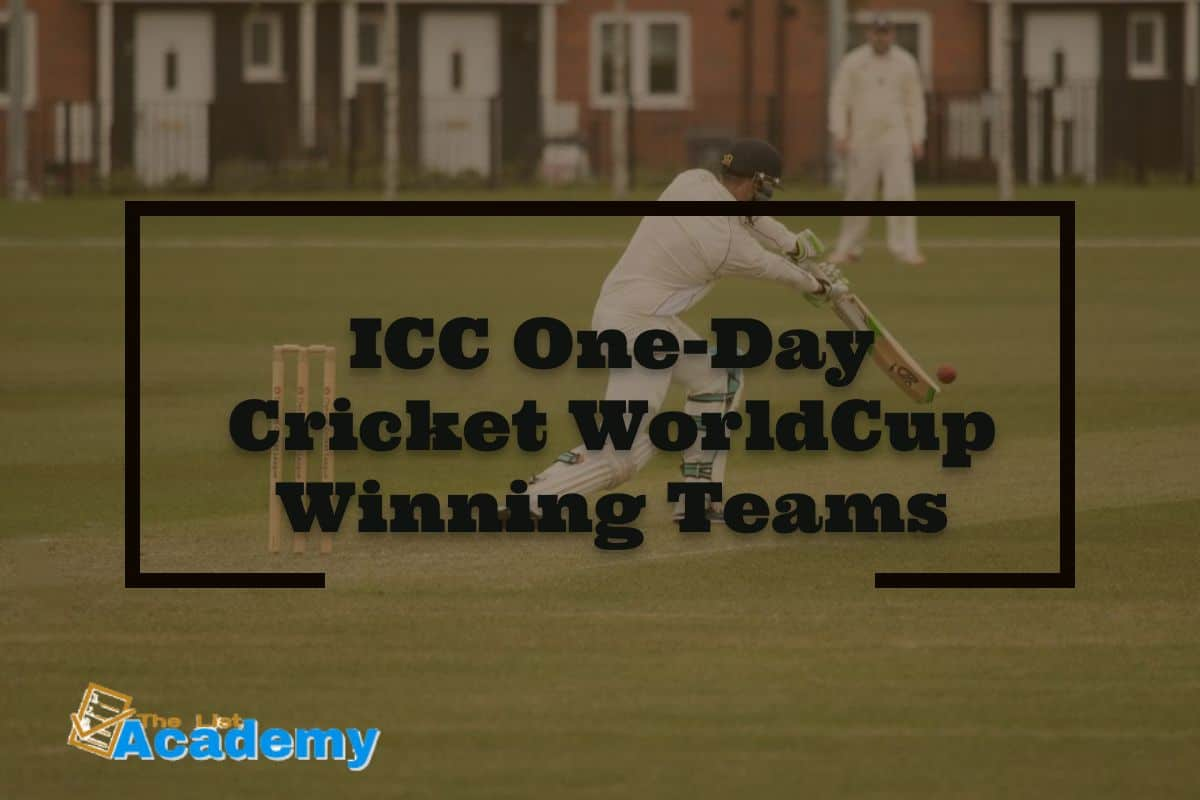 Cover Image For List : Icc One-day Cricket Worldcup Winning Teams