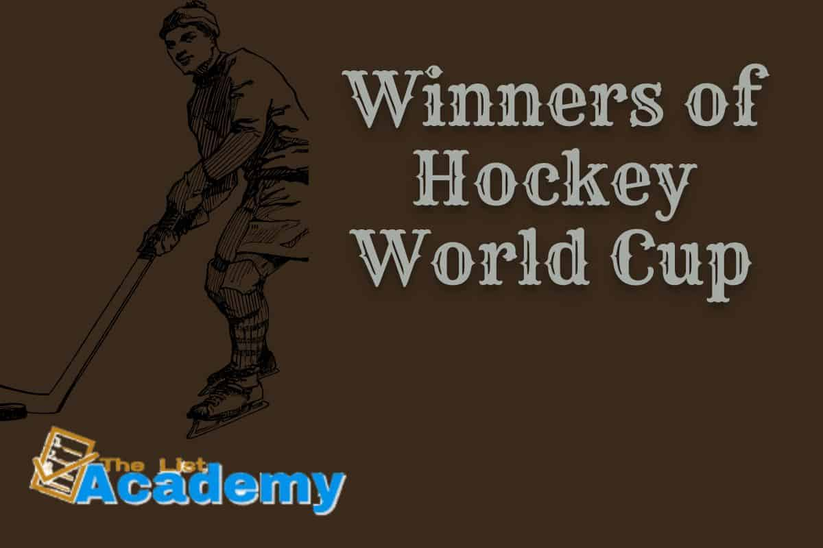 Cover Image For List : Winners Of Hockey World Cup