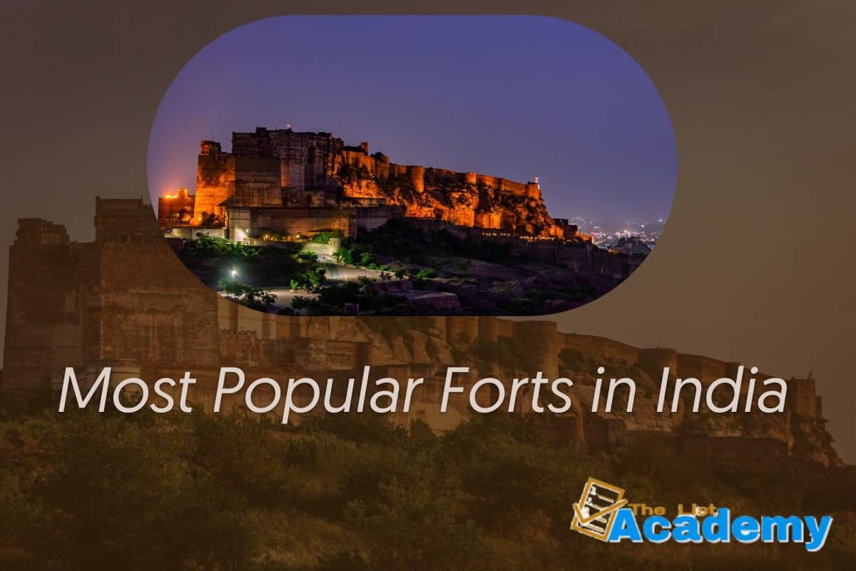 Cover Image For List : 38 Most Popular Forts In India