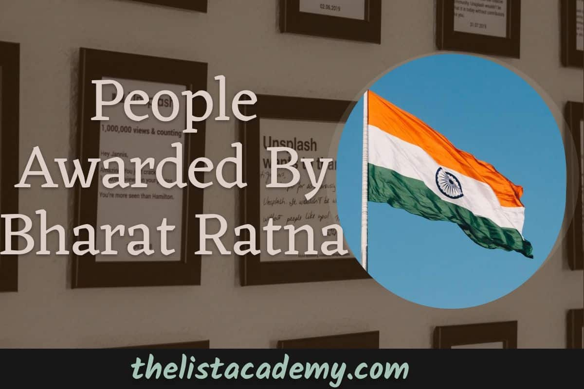 Cover Image For List : People Awarded By Bharat Ratna