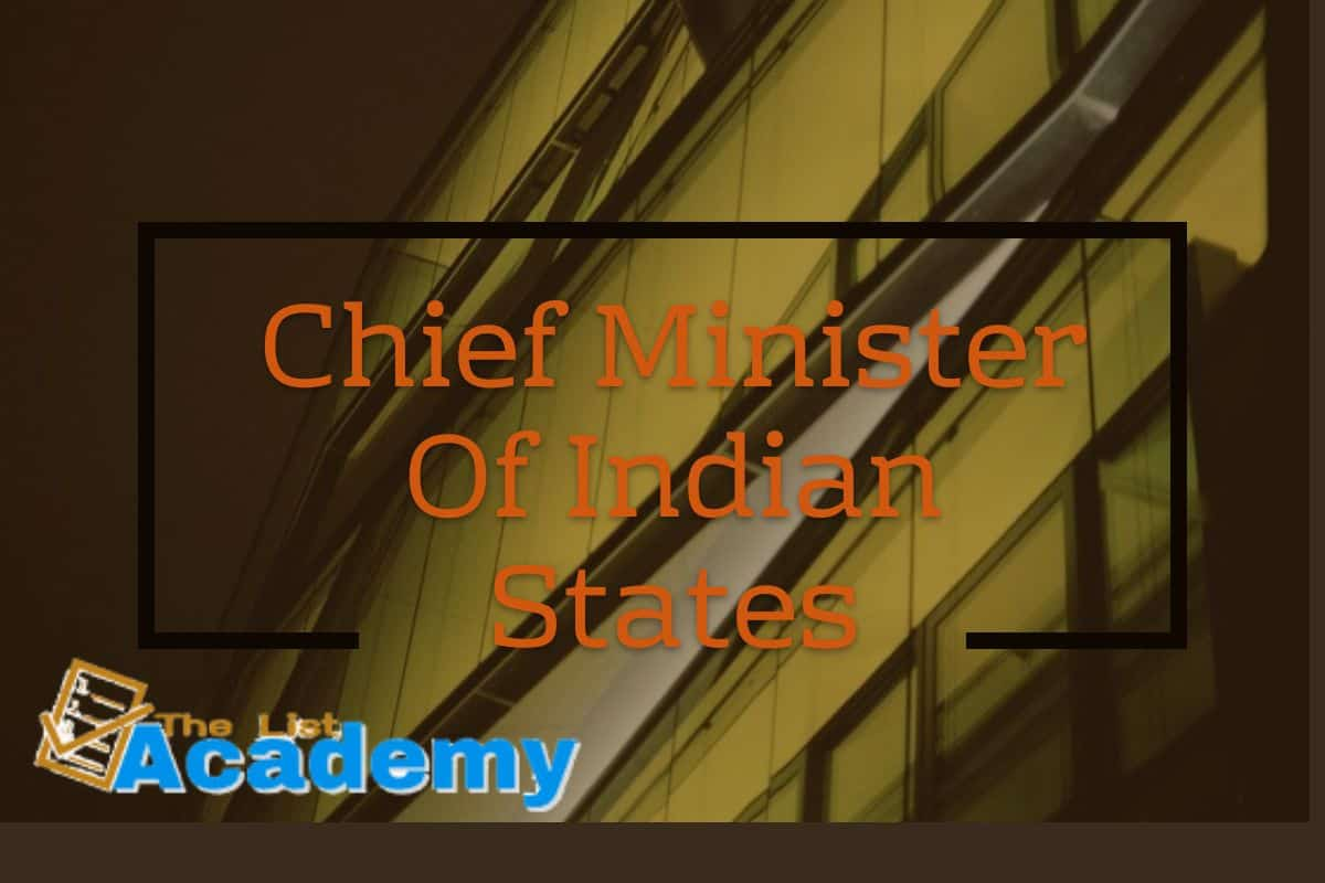 Cover Image For List : Chief Minister Of Indian States