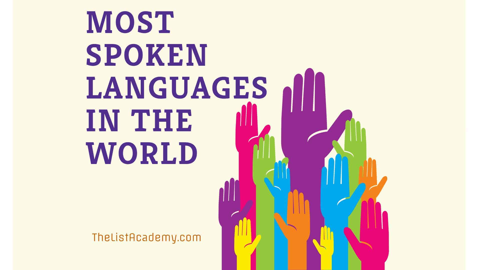 Cover Image For List : 100 Most Spoken Languages In The World