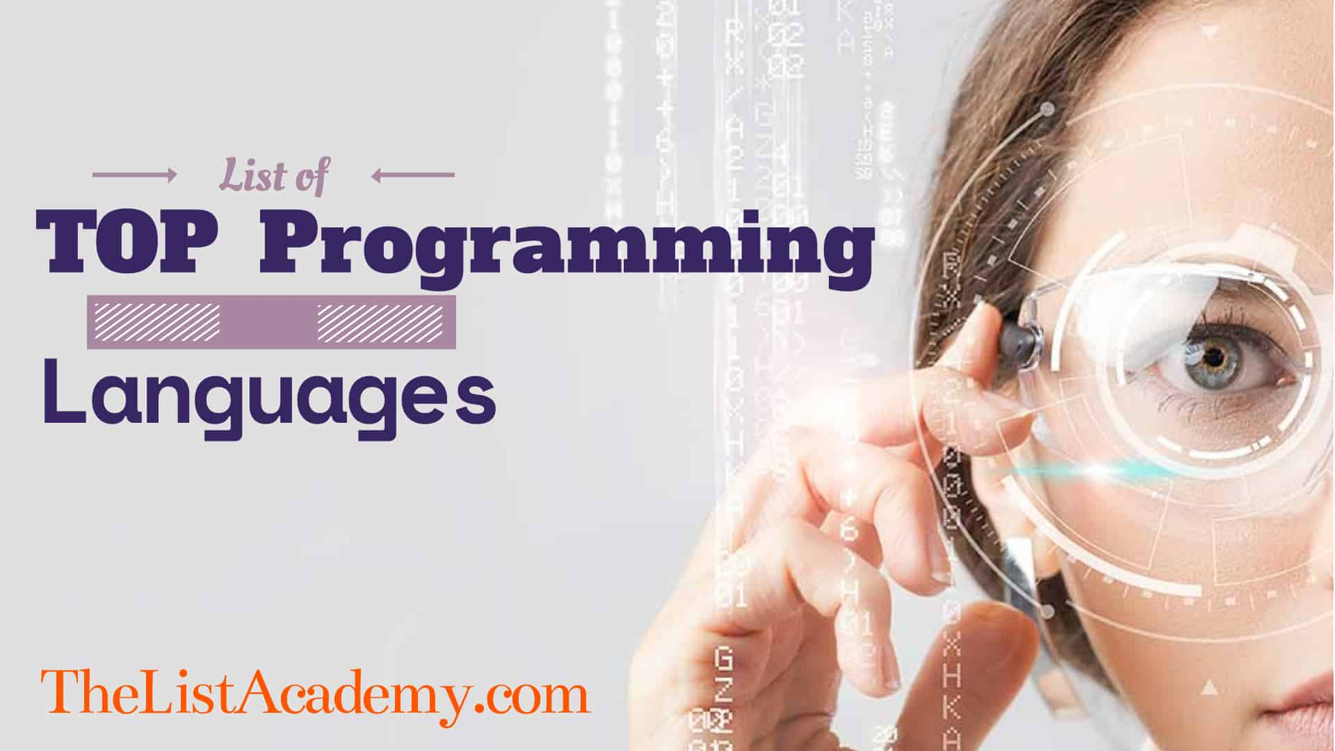 Cover Image For List : Top  86 Programming Languages
