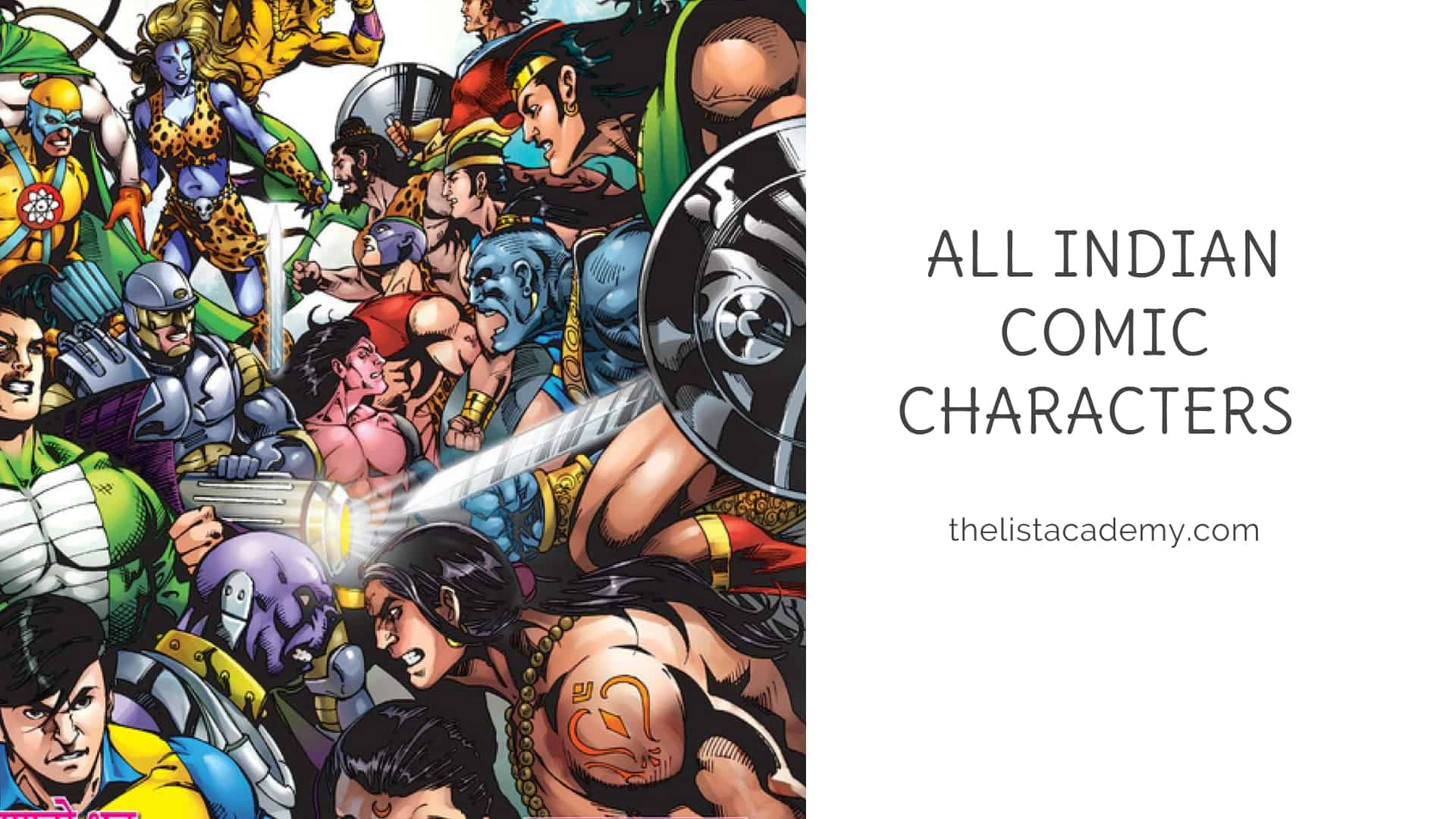 Cover Image For List : All Indian Comic Characters - 300+ Indian Comic Characters