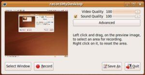 Record My Desktop