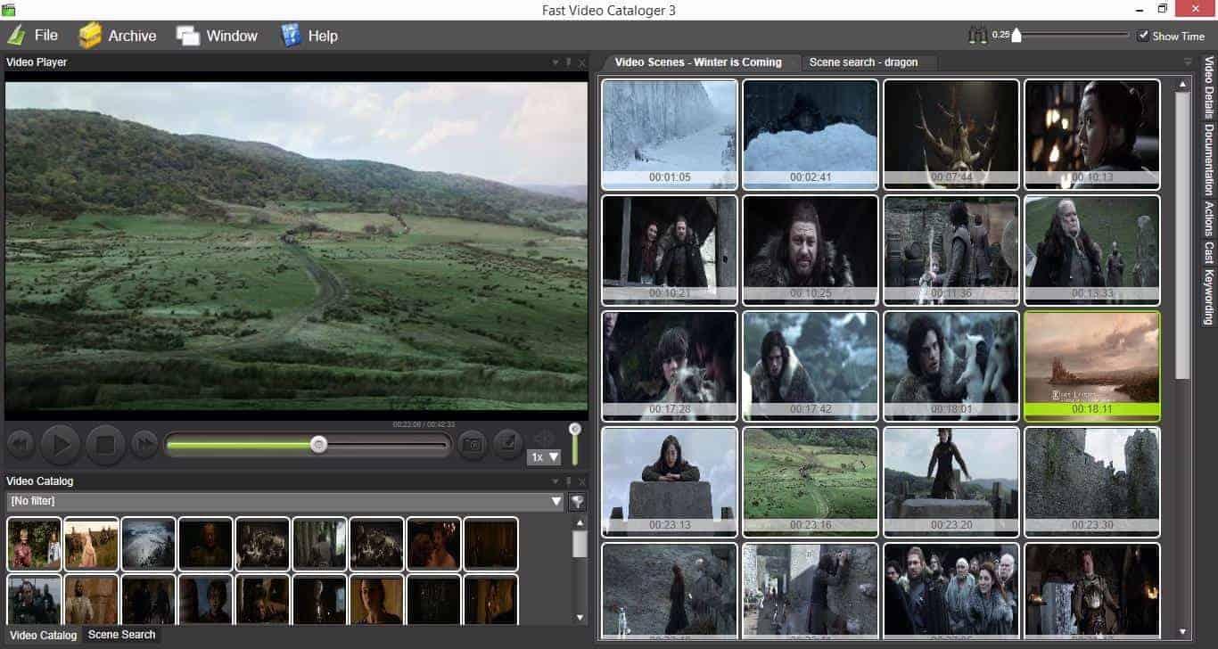 Fast Video Cataloger