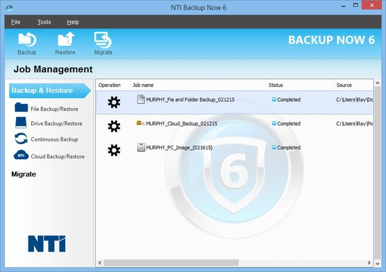 NTI Backup Now 6